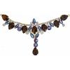 Crystal Motifs T-shape 17x8.5cm Topaz Aurora Borealis/gold